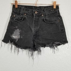 Vintage Levi's 560 Orange Tab Denim Cutoffs Shorts